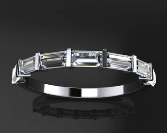 lexie ring – 1 carat moissanite anniversary band, ZAYA moissanite baguette ring