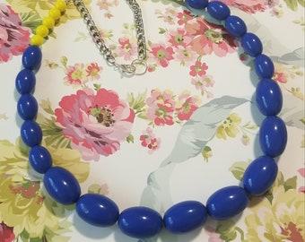 Chunky Blue Statement Necklace