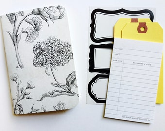 Black + White Floral, Field Notes Inserts, Travelers Notebook, Midori Refill, Travel Journal, Midori, Planner Insert, TN Inserts, Foxydori