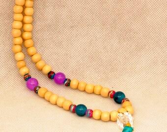 Long Necklace Boho Turquoise