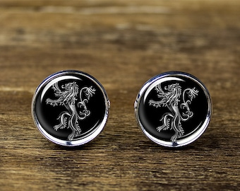 Game of Thrones Lannister cufflinks, House Lannister cufflinks, Lion cufflinks