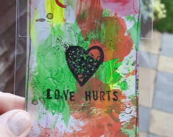 Love hurts atc artists trading card aceo