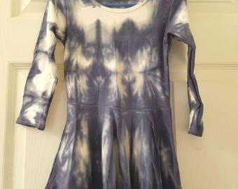 Hand dyed girls tunic top/dress