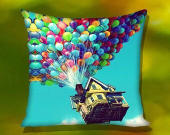 Balloon House Disney Up Pillow Case