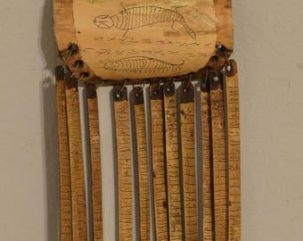 """Sumtra Calendar Wood Bamboo Batak People Luna 12 Month Shaman Calendar 7"""""""