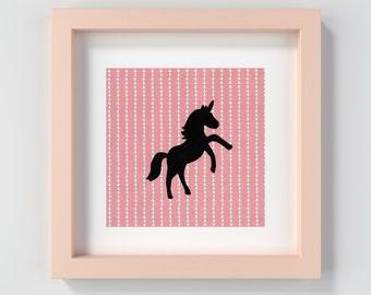 Printable Unicorn Wall Art, Unicorn Nursery Art Print, Unicorn Decor, Pink Unicorn Artwork, Unicorn Painting Print, Pink Decor, Unicorn Art
