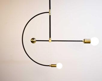 Miró - Brass chandelier - Mid century modern