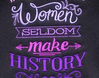 Women in History Bag, Women slogan Reporter Bag Famous women Handbag Historic shoulder Vape Bag Medical kit bag