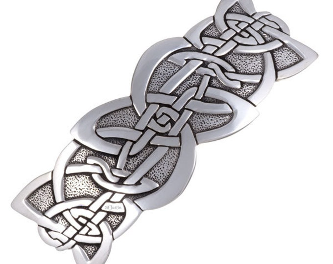 Celtic nouveau hairslide -Hand Made and Design in UK