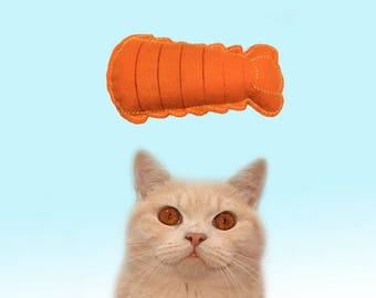 Valerian cat toys, Handmade Valerian root Lobster Tail, Cool Cat Toys, Gifts for Cats, cat toy, valerian toys, Unique toys by Freak Meowt