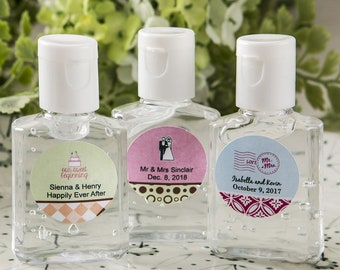 50-200 Personalized Hand Sanitizer - Wedding Shower Party Favors