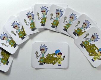 Rick & Morty Get Scwhifty  3x2in Die Cut White Vinyl Sticker Buy 1-10(FREE SHIPPING)