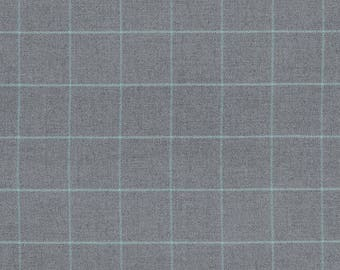 Bancroft Wool Plaid pillow cover in Oxford Grey