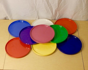 Heller Vignelli Salad Plates - 7 1/2 inch - mix and match - rainbow heller - Massimo Vignelli