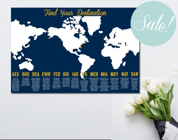 Printable seating chart travel themed wedding world map printable seating chart travel themed wedding world map seating chart travel themed seating chart poster find your seat poster gumiabroncs Choice Image