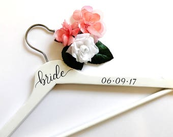 Bride Wedding Dress Hanger - Bridal Hanger, Custom Hanger