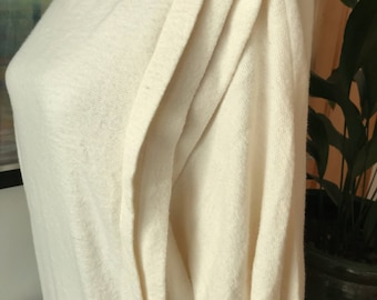 1980s sweater dress, 1980s jumper dress, cream dress, white dress, jumper dress, sweater dress, size 12, 80s does 30s, midi dress,