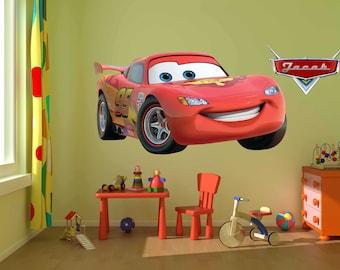 Disney Decals, Lightning Mcqueen Wall Decal,Game Room, Cars Decals, Cars  Wall Designs, Cars Wall Murals, Lightning Mcqueen Art,Cars, Cars 2