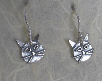 cat head earrings