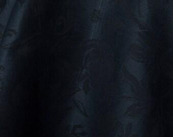 Linen Cotton Fabric | Cotton Blend Fabric | Linen Blend Fabric | Cotton Linen Blend Fabric | By The Yard | Navy Blue | Fabric |Linen Fabric