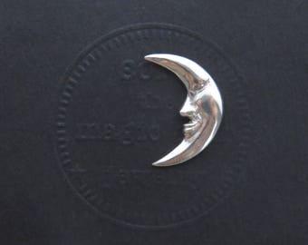 Moon Pin, Moon Lapel Pin, Crescent Moon tie tack, Moon Tie pin, Moon brooch, silver tie tack pin, Gifts for Men