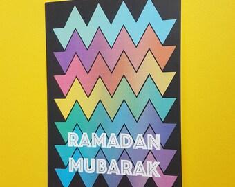 Rainbow Ramadan Card
