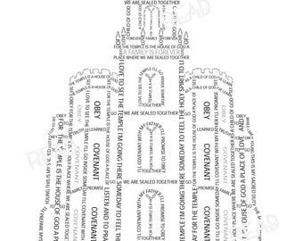 LDS Manti Temple Word Art