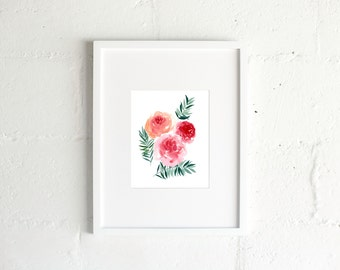 The Tropical Roses Print