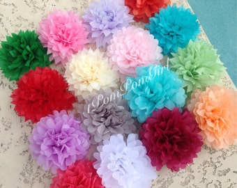 MINI TISSUE POMS / Tissue Paper Pom Pom / wedding decoration / bridal shower / garland / nursery / baby shower / birthday / pom poms
