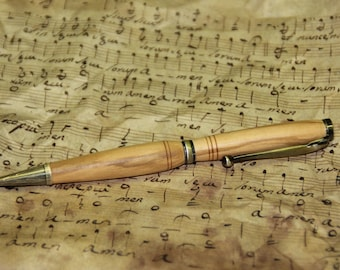 Pen 'olivier' and antique brass