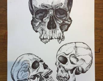 Stippled Skull (Large)