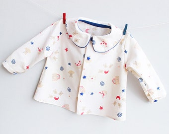 LITTLE STARS Boy Girl Shirt pattern Pdf sewing pattern, children baby toddler newborn 3 6 9 12 18 m and 1, 2 3 4 5 6 yrs Instant Download
