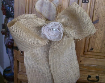 Set of 10 Burlap Pew Bows, Rustic Pew Bows, Barn Wedding Bows, Burlap Wedding Decor, Fall Wedding Decor, burlap bow, rustic bow