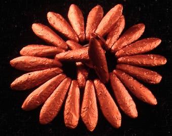 15x6 Old Copper Etch Daggers