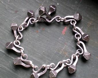 Horseshoe Mud Nail Equestrian Link Bracelet
