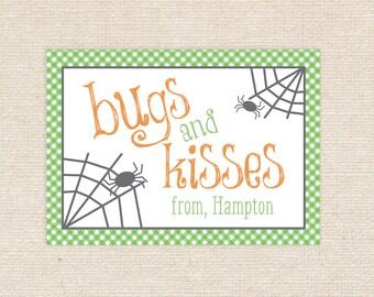 25 Printed Bugs & Kisses Tags