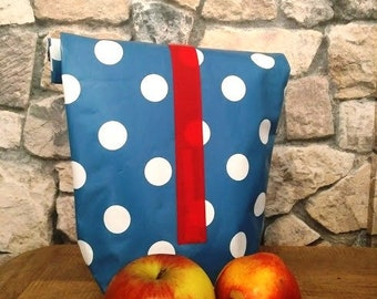 Bag made of Oilcloth, Lunchbag, lunchbox, breakfast bag, bread bag, food for on the go, children's bag, breakfast bag, kindergarten, Oilcloth