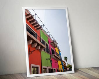 Mexican Colored Houses Printable