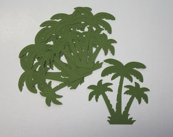 10 Palmtree's/Die Cuts/Scrapbooking/Embellishments/Card Making/Florida/California/Paper Cuts/Palmtree/Summer