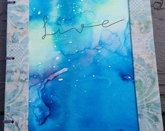 "Live  - 6""x9"" Hand Bound Journal"