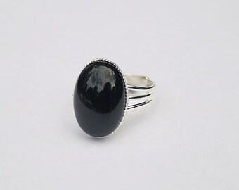 Black Onyx Ring Black Stone Ring Black Gemstone Ring Black Oval Ring Black Onyx Gemstone Black Ring Onyx Gold Ring Black Gold Ring