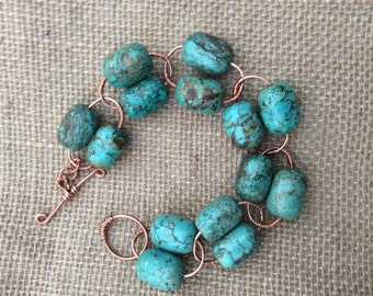 Women's Statement Turquoise Bracelet.