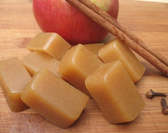 Vegan Organic Mulled Apple Cider Caramels -- seasonal flavor!