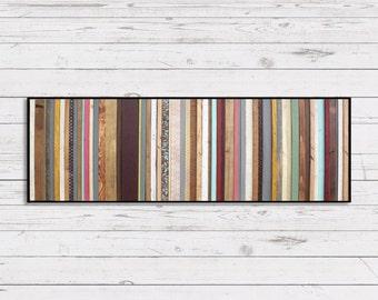 Reclaimed Wood Wall Art - Arabian Nights - Modern Wood Wall Art in Purples, Blues, Reds and Creams - Abstract Minimalist Art