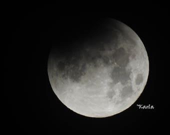 Lunar Eclipse Moon Photo Picture Photograph, Photography, Astrophotography, 5 Pictures, Home Bedroom Living Room Office Decor