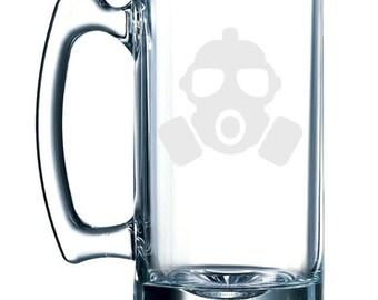 Gas mask -  26 oz glass mug stein