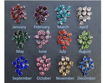 Add a Birthstone charm, crystal birthstone charm add on, keyring add on, bracelet add on, necklace add on
