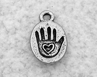 Green Girl Studios Made with Love Hand Pewter Charm