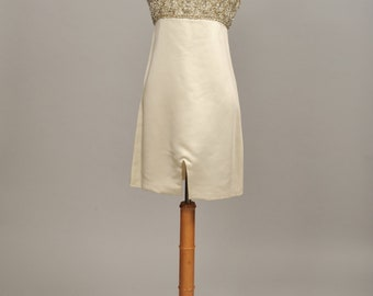 1960 Silk Mod Wedding Dress