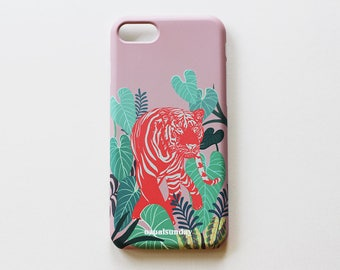 iphone 7/7s, iphone 6/6s case, iphone case, illustration case, Aloha Tiger